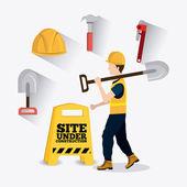 Construction digital design. — Stock Vector
