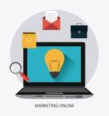 Digital marketing design. — Stock Vector