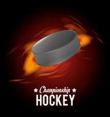 Hockey visuell design — Stockvektor