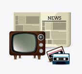 Journalismus-Symbole entwerfen — Stockvektor