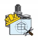 Construction concept design — Stock Vector