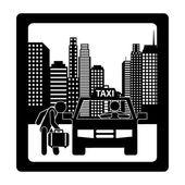 Diseño de servicio de taxi — Vector de stock