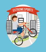 Экстремальный спорт дизайн — Cтоковый вектор