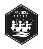 Nautical sport design — Stock Vector