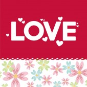Aşk kartı tasarımı — Stok Vektör