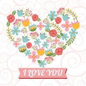 Diseño de tarjetas de amor — Vector de stock