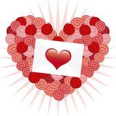 Love card design — Stock Vector