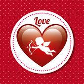 Projekt karty miłości — Wektor stockowy