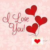 Design de cartão de amor — Vetor de Stock
