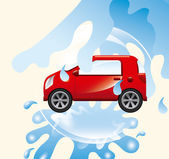 Car wash service — Stock Vector