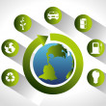Go green design — Stock Vector #77606258