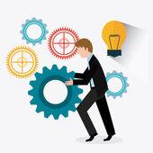 Biznes cyfrowy projekt — Wektor stockowy