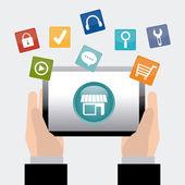 App store digital design. — Stock Vector