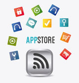 App store digital design — Stock Vector
