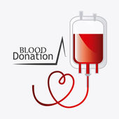Blood donation design. — Stock Vector