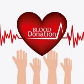 Conception de don de sang. — Vecteur