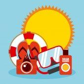 Projeto de férias de verão — Vetor de Stock