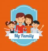 Rodzina miłości wizualne — Wektor stockowy