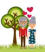 Family love visual — Stock Vector