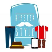 Hipster style design — Stock Vector