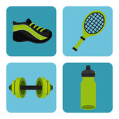 Hälsosam livsstil design — Stockvektor