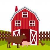 Diseño fresco de la granja — Vector de stock