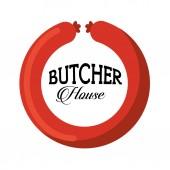 Seal butcher  design — Stock Vector