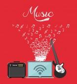 Muziek levensstijl ontwerp — Stockvector