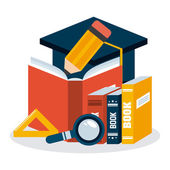 Education icons design — Stock Vector