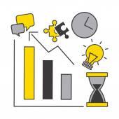 Business statistics design — Stock Vector