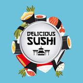 Delicious sushi design — Stock Vector
