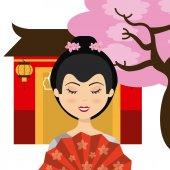 Japanese culture design — Stock Vector