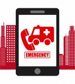 Emergency concept design — Stock Vector