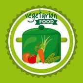 Design de alimentação vegetariana — Vetor de Stock