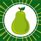 Výborné ovoce design — Stock vektor