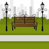 Diseño de parque urbano. — Vector de stock