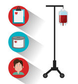 Blood donation design. — Stock Vector