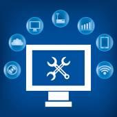 Technology digital design — Stock Vector