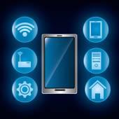 Conception de la technologie numérique — Vecteur