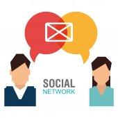 Conception de réseau social. — Vecteur