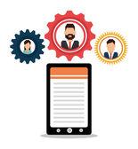 Human resources design. — Stock Vector