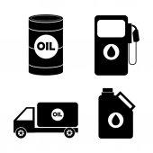 Design industria petrolio. — Vettoriale Stock