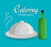 Gastronomy digital design — Stock Vector