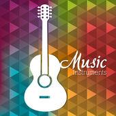 Music instruments design. — Stock Vector