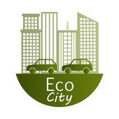 Eco city design — Stock Vector