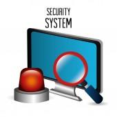 セキュリティ システムの設計. — ストックベクタ