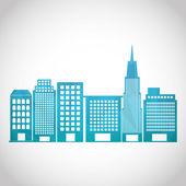 Городской пейзаж значок — Cтоковый вектор