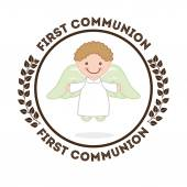 First communion, christian concept — Stock Vector