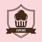 Sweet cupcake design — Stock Vector