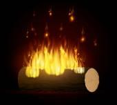 Fire digital design. — Stock Vector